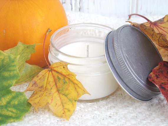 Hayride 4 oz Jar Candle Autumn Soy Candles - Country Farmhouse Decor