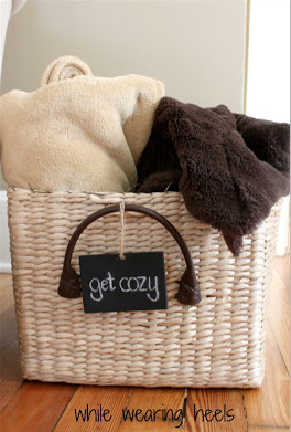 While Wearing Heels - Cozy Blanket Basket
